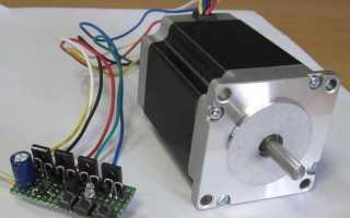 Шаговый двигатель 6 проводов подключение