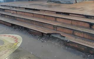 Восстановление ступеней бетонной лестницы