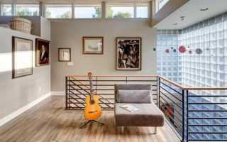 Вставки из стеклянных блоков в квартире