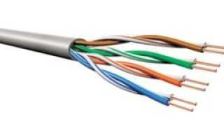 Распайка сетевого кабеля по цветам