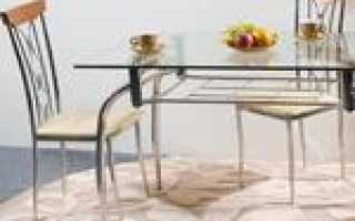 Что постелить на стеклянный кухонный стол?