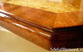 Каким лаком покрыть столешницу обеденного стола?