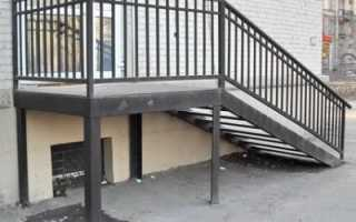 Входная лестница из металла своими руками