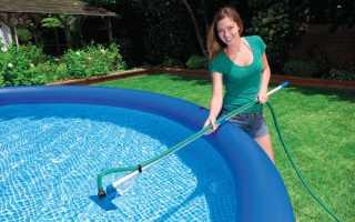 Как очистить стенки бассейна от известкового налета?
