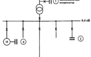 Расчет конденсаторной установки для компенсации реактивной мощности