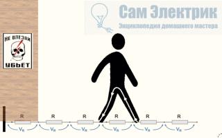 Пошаговое напряжение электрического тока