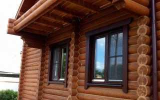 Отделка пластиковых окон снаружи в деревянном доме