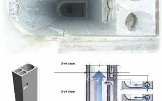 Восстановление вентиляционного короба в квартире