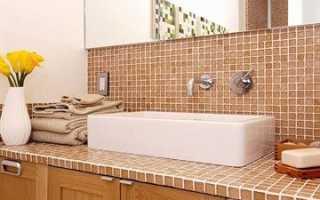 Столешница под умывальник в ванную своими руками