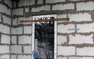 Крепление металлической двери в газобетоне