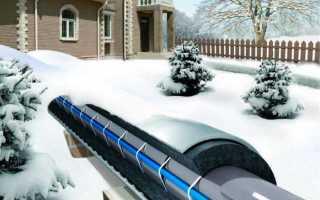 Монтаж обогревающего кабеля для водопровода