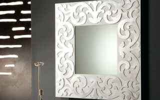 Как закрепить зеркало на стене без рамки?