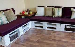 Изготовление мебели из поддонов своими руками