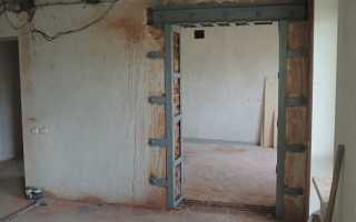 Расширение дверного проема в несущей кирпичной стене