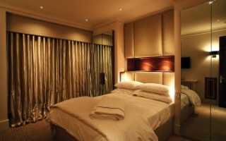 Освещение спальни без люстры на потолке