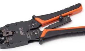 Обжиматель сетевого кабеля
