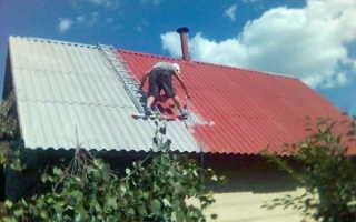 Чистка покраска шиферных крыш