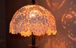 Как самому сделать абажур для настольной лампы
