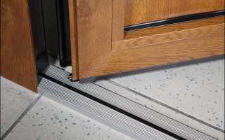 Как сделать порог входной двери на улице?