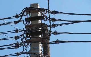 Прокладка провода СИП по опорам