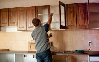 Как крепить заднюю стенку кухни?